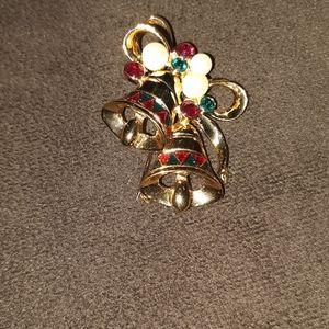 SWAROVSKI Crystal Christmas Bell Brooch